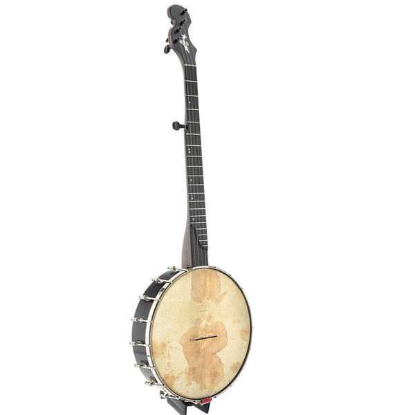 "Chuck Lee Ovilla Banjo, 12"" Rim, Integral Wooden Tone Ring"