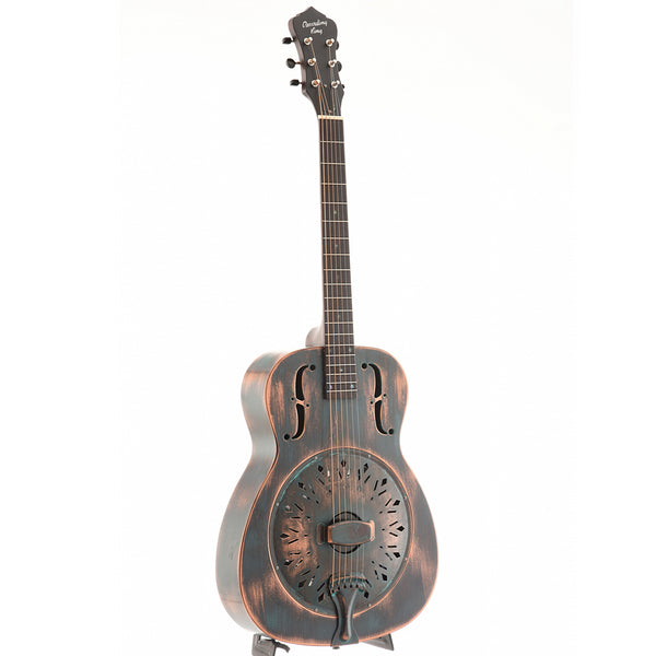 "Recording King Limited Edition ""Swamp Dog"" Resonator Guitar, Distressed Green Finish"