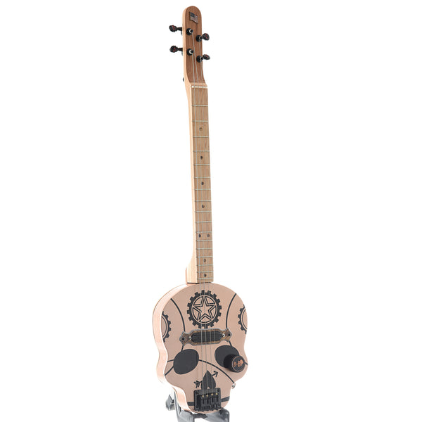 Get Down Guitars Copper Skull Cigar Box 4-String Electric Guitar