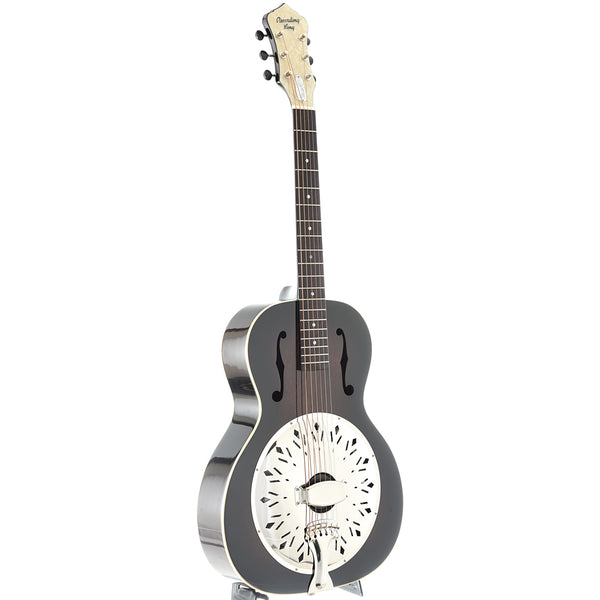 Recording King Rattlesnake Wood Body Roundneck Resonator Guitar with Fishman Pickup