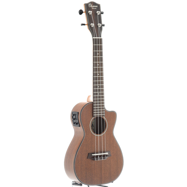 Ohana CK-35CE Concert Ukulele, with Cutaway, Pickup and Eq, Matte Finish