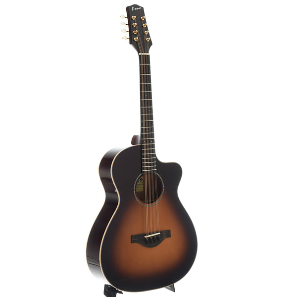 Pono MND-20HC SB Flat Top Octave Mandolin, Deluxe Large Body Short Scale
