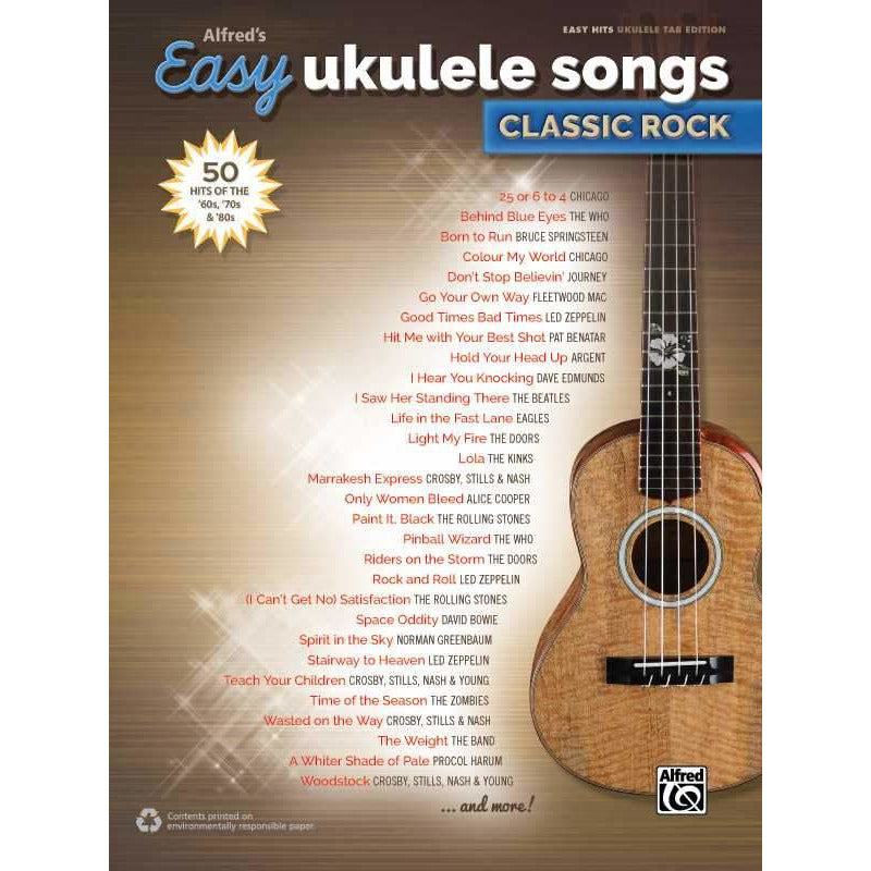 Alfred's Easy Ukulele Songs: Classic Rock