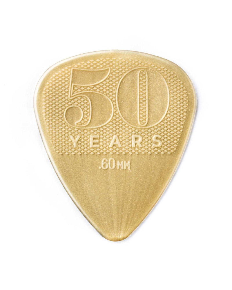 Dunlop Nylon 50th Anniversary Gold Flatpick Player's Pack, 12 Picks
