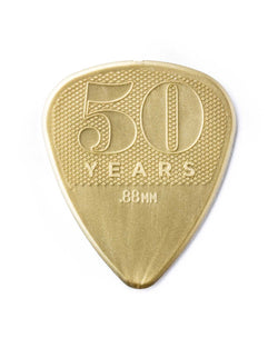Dunlop Nylon 50th Anniversary Gold Player's Pick Pack, 12 Picks