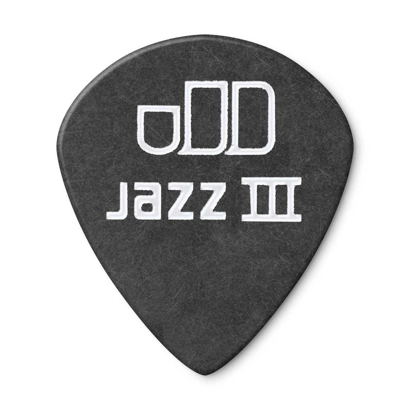 Dunlop Tortex Pitch Black Jazz .88MM Picks, Player's Pack of 12