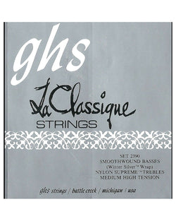GHS 2390 La Classique Smoothwound Medium High Tension Classical Guitar Strings