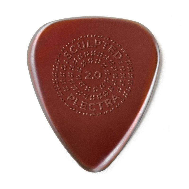 Dunlop Primetone Sculpted Plectra, Ultex Standard with Grip, 2.00MM Thick, Three Pack