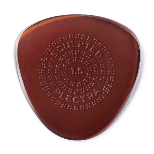 Dunlop Primetone Sculpted Plectra, Ultex Semi Round with Grip, 1.50MM Thick, Three Pack