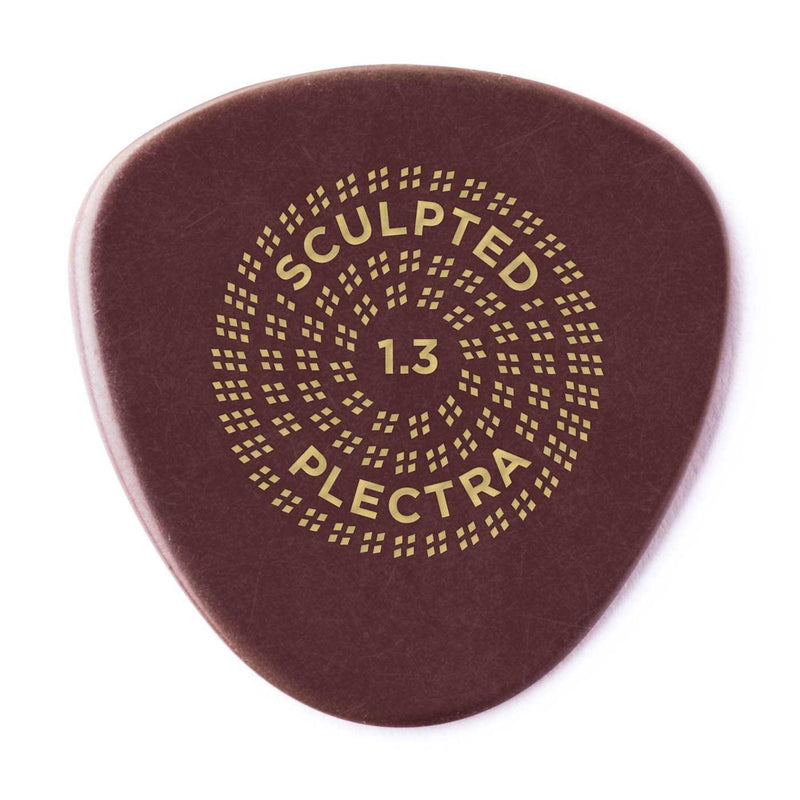 Dunlop Primetone Sculpted Plectra, Ultex Semi Round, 1.30MM Thick, Three Pack