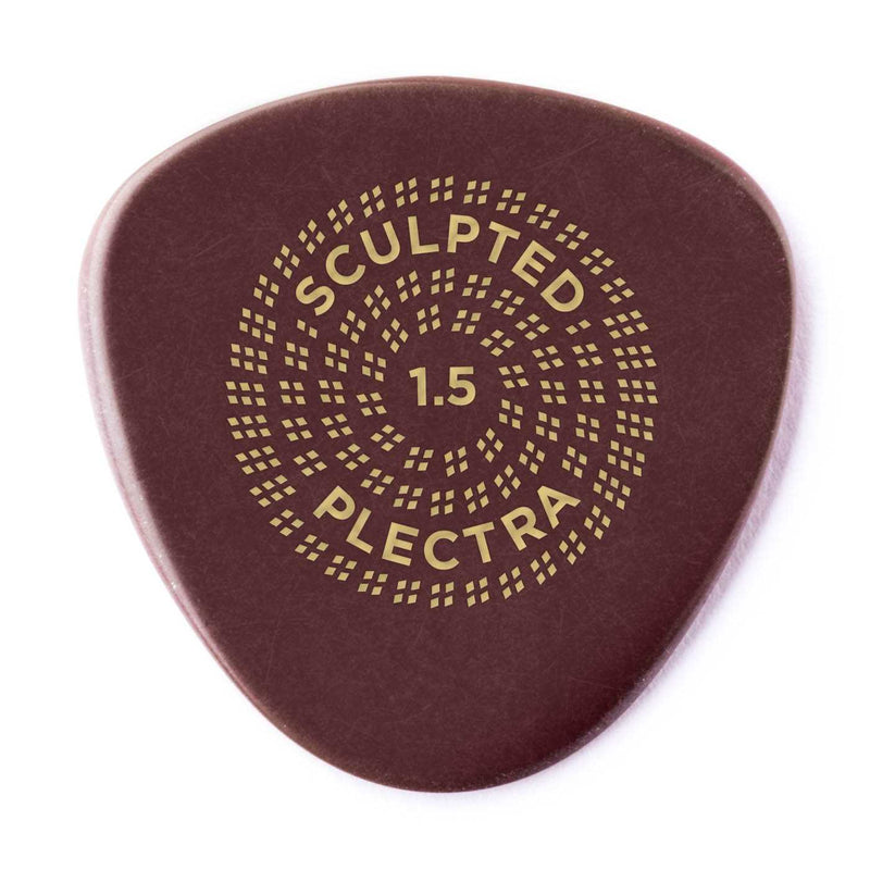 Dunlop Primetone Sculpted Plectra, Ultex Semi Round, 1.50MM Thick, Three Pack