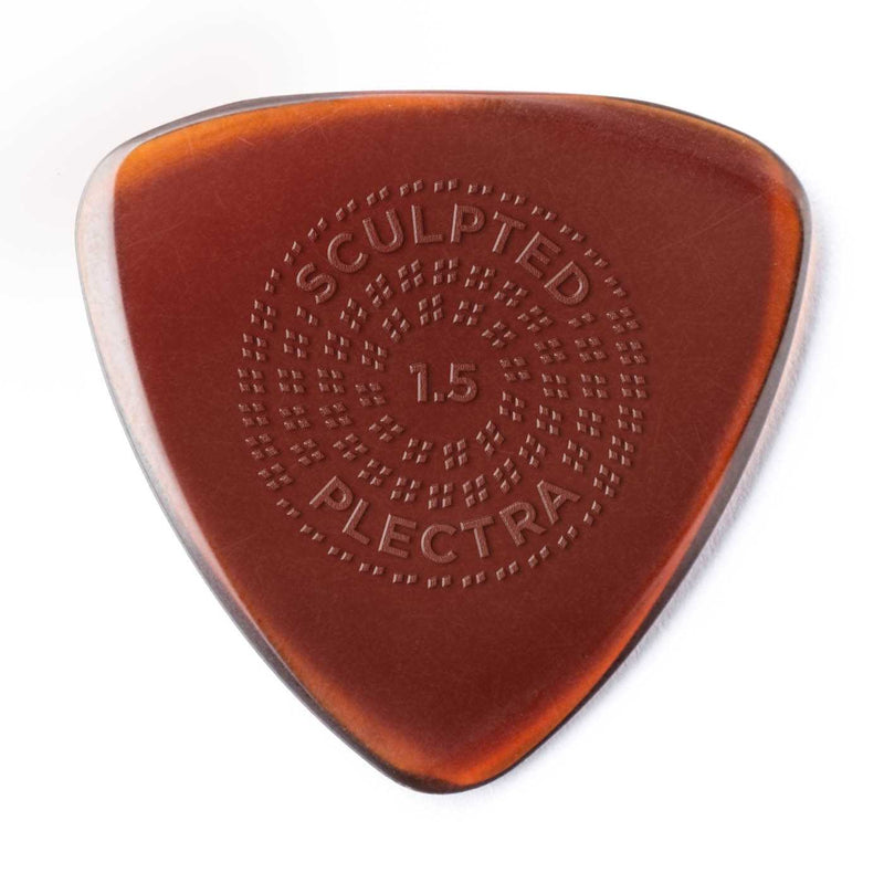 Dunlop Primetone Sculpted Plectra, Ultex Small Triangle with Grip, 1.50MM Thick, Three Pack