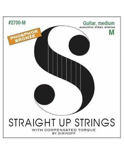 Straight Up 2700-M Phosphor Bronze Medium Gauge Acoustic Guitar Strings by Siminoff