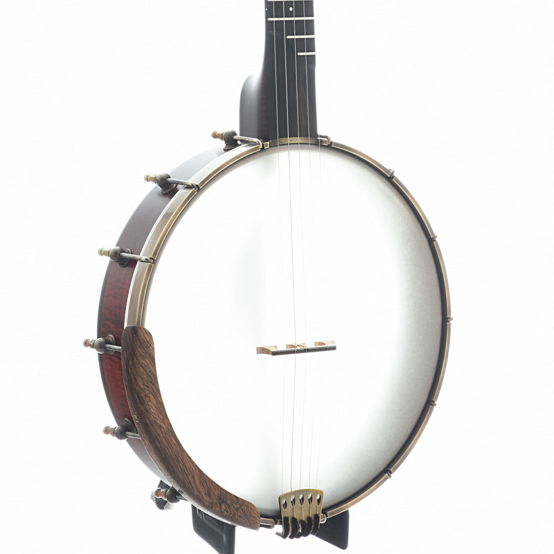"Ome Tupelo 12"" Openback Banjo & Case, Curly Maple"