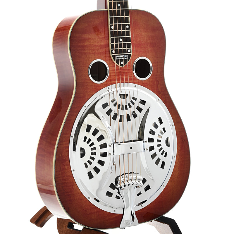Scheerhorn L-Body Resonator Guitar & Case, Flamed Maple