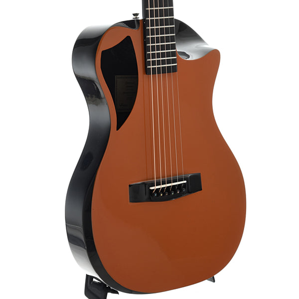 Journey Instruments OF660 Carbon Fiber Collapsible Travel Guitar with Gigbag, Burnt Orange Top