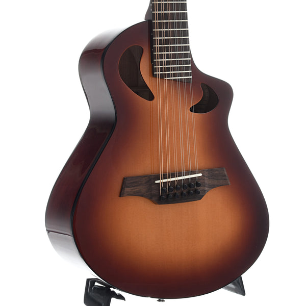 Avante by Veillette Gryphon 12-String Mini-Guitar with Case, Tobacco Burst