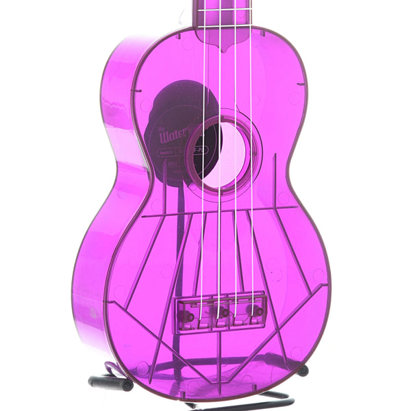 Kala Waterman Series KA-SWF Soprano Ukulele, Fluorescent Grape with Carrying Bag