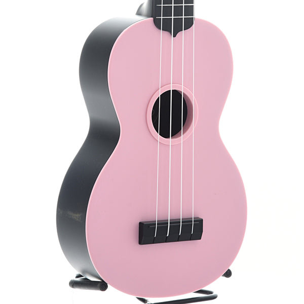 Kala Waterman KA-SWB Soprano Ukulele, Soft Pink Matte with Carrying Bag