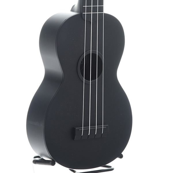 Kala Waterman KA-SWB Soprano Ukulele, Black Matte with Carrying Bag