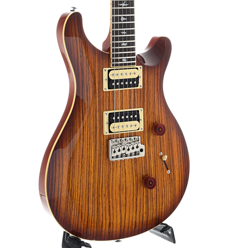 PRS Se Custom 24 Exotic Top Electric Guitar with Gigbag, Zebrawood