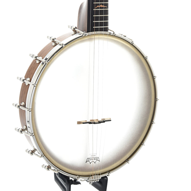 Pattison Mountain Sounds Openback Banjo, Brass Hoop Tone Ring