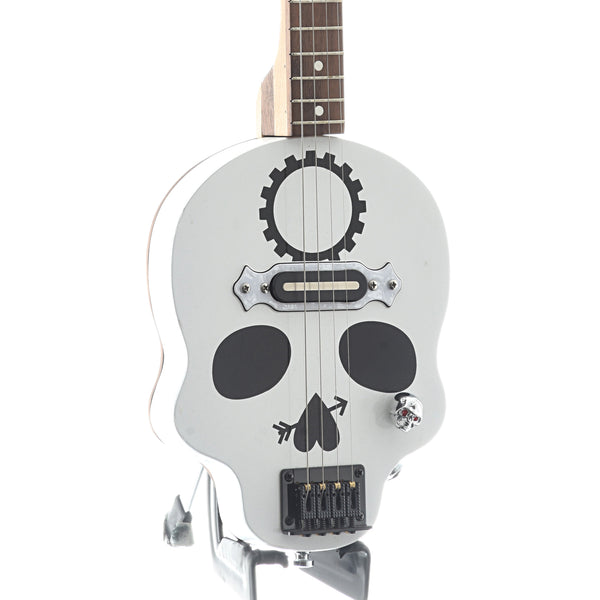 Get Down Guitars White Skull Cigar Box 4-String Electric Guitar