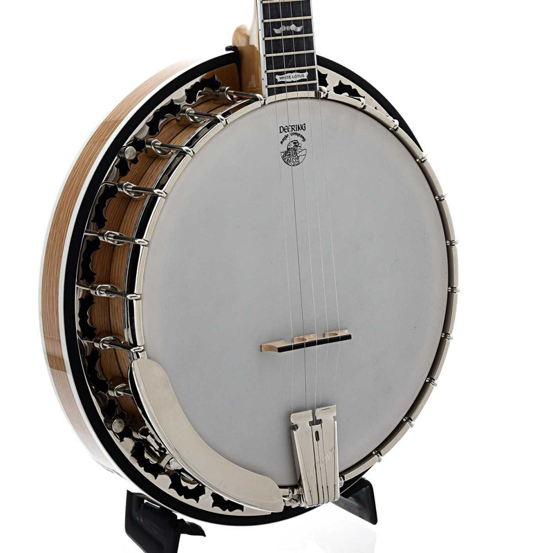 Deering White Lotus Banjo & Case