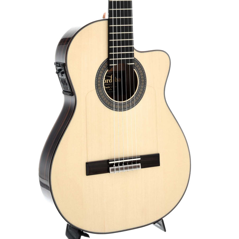 Cordoba 55FCE Negra (Macassar Ebony) Thinbody Flamenco Guitar and Case