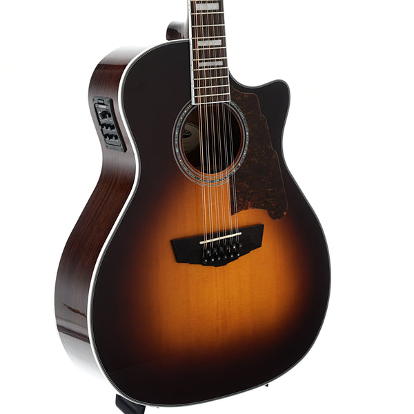 D'Angelico Premier Fulton 12-String Acoustic Guitar, Vintage Sunburst Finish