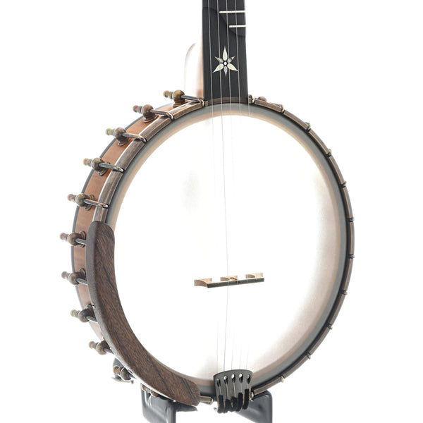 "Ome Flora 11"" Openback Banjo & Case, Curly Maple"