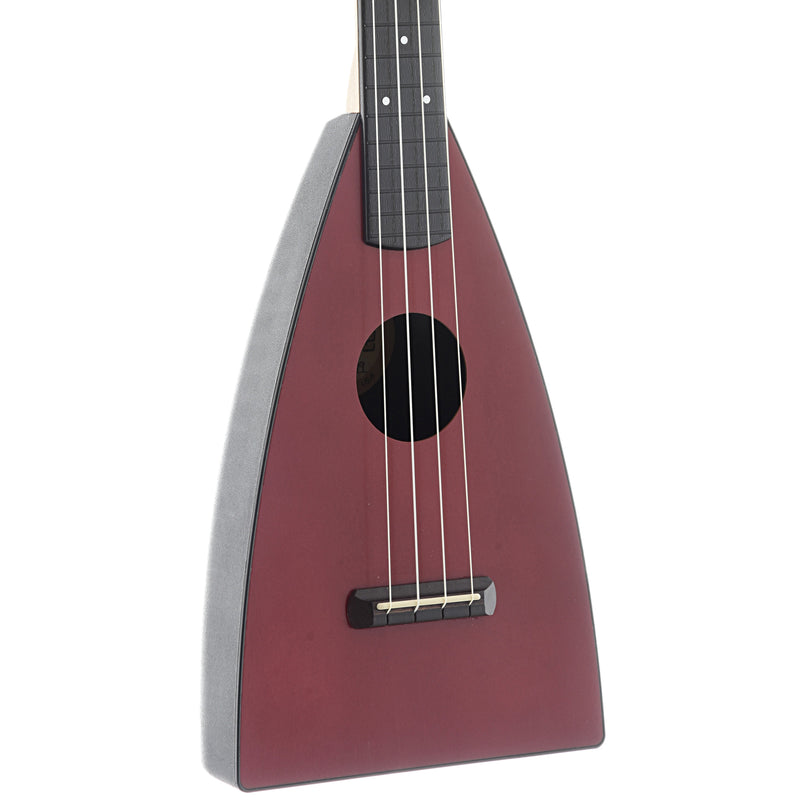 MAGIC FLUKE COMPANY FLUKE UKULELE, TENOR, HIBISCUS RED FINISH WITH GIGBAG