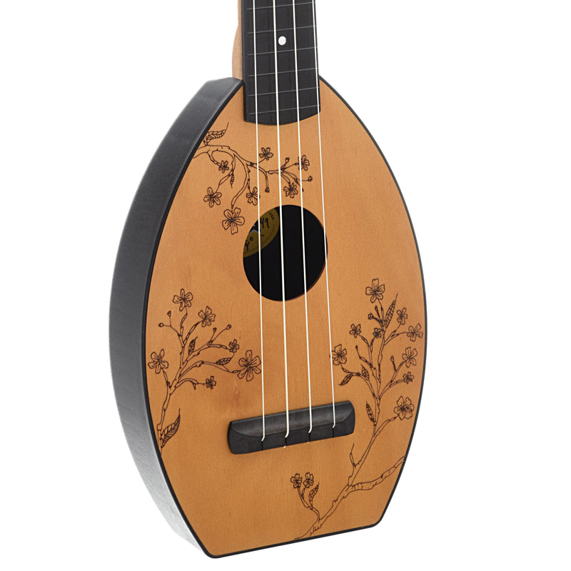 Magic Fluke Company Flea Ukulele, Concert, Cherry Blossom Design with Gigbag