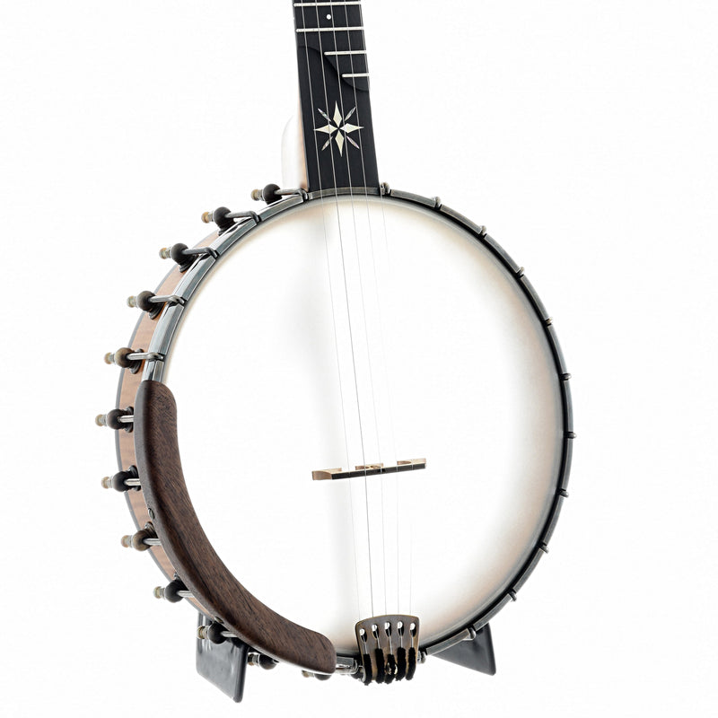 OME North Star Openback Banjo & Case, Curly Maple