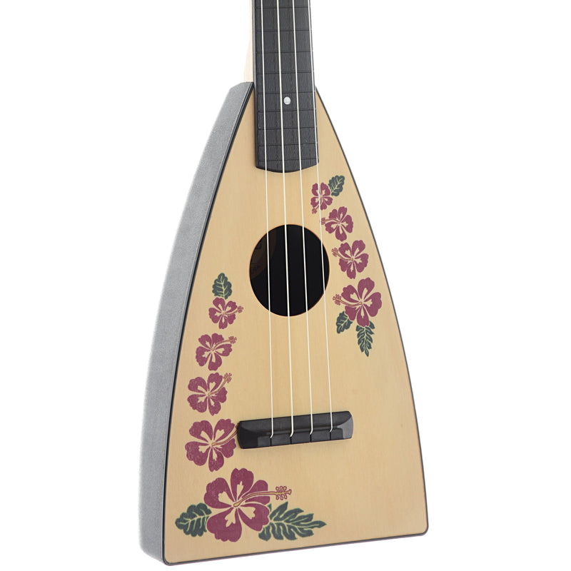 MAGIC FLUKE COMPANY FLUKE UKULELE, CONCERT, ISLAND DESIGN WITH GIGBAG