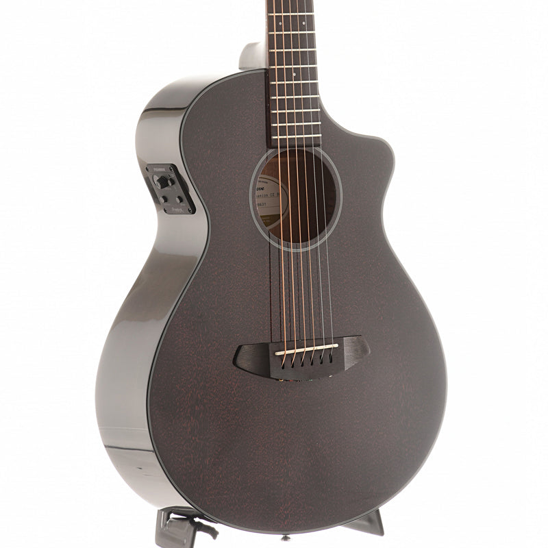 Breedlove Discovery Companion Black Widow CE Mahogany-Mahogany Acoustic-Electric Guitar