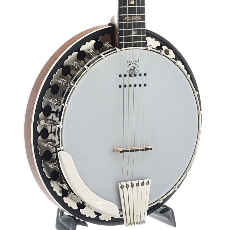 Deering B-6AE Boston 6-String Acoustic-Electric Banjo Guitar & Case