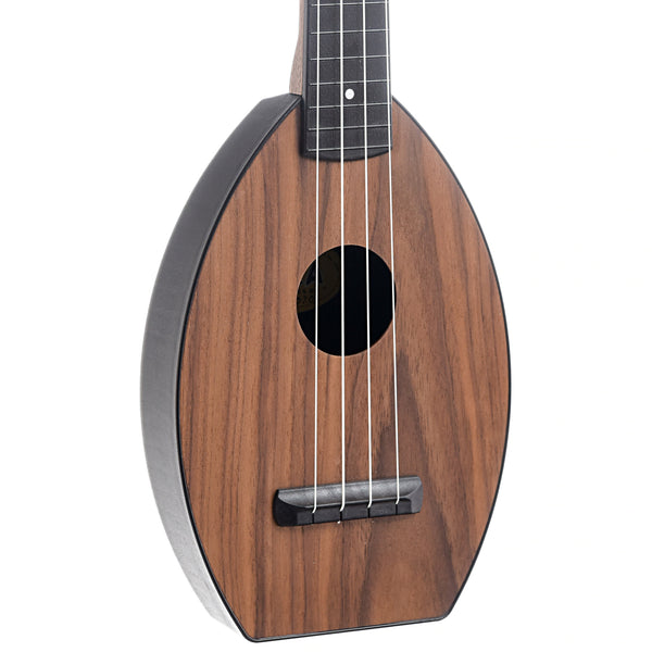 Magic Fluke Company Flea Ukulele, Soprano, Walnut Finish With Cinch Sack