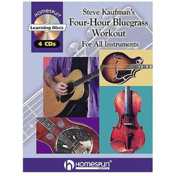 Steve Kaufman's Four-Hour Bluegrass Workout CD Package
