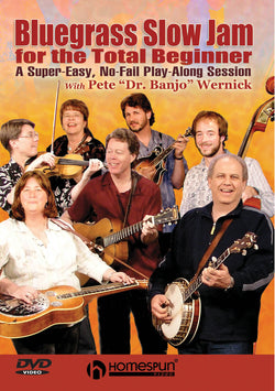 DVD - Bluegrass Slow Jam for the Total Beginner-A Super-Easy, No-Fail Play-Along Session