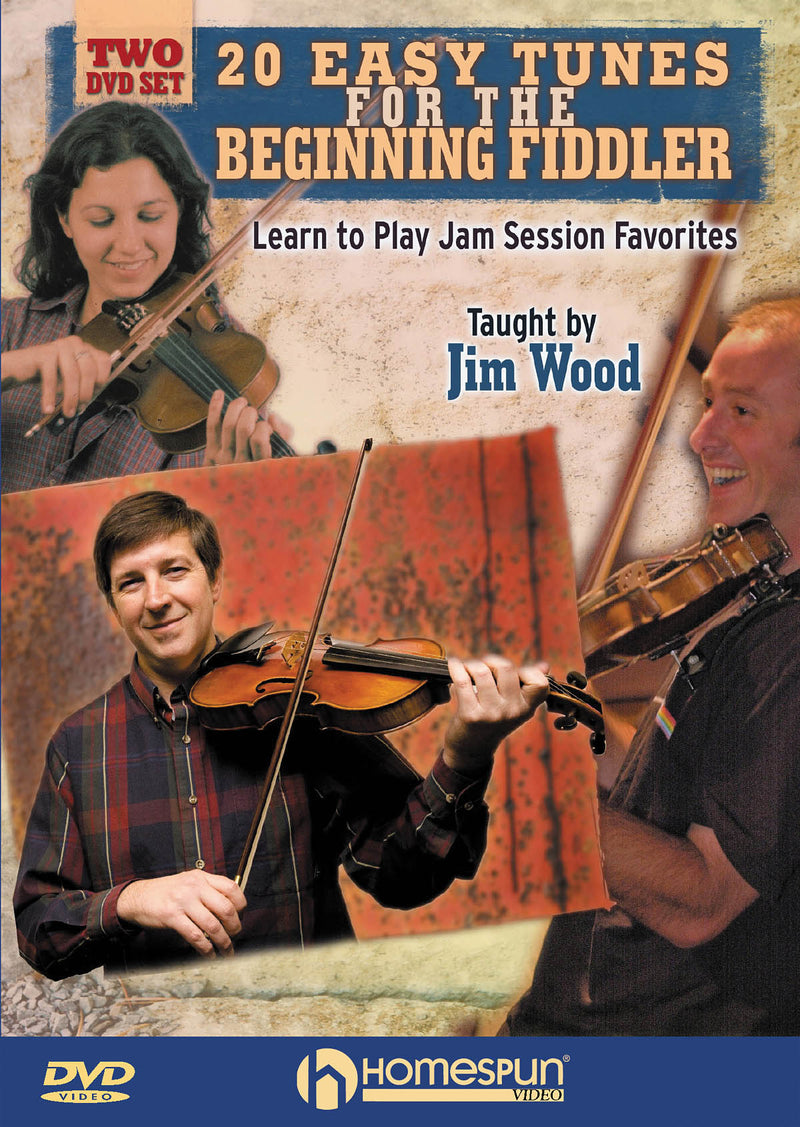 DVD - 20 Easy Tunes for the Beginning Fiddler - Learn to Play Jam Session Favorites