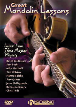 DVD - Great Mandolin Lessons - Learn From Nine Master Players