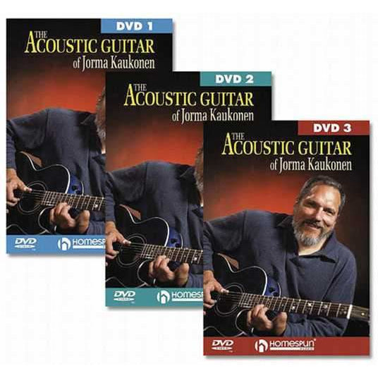 DVD-The Acoustic Guitar of Jorma Kaukonen: Three DVD Set