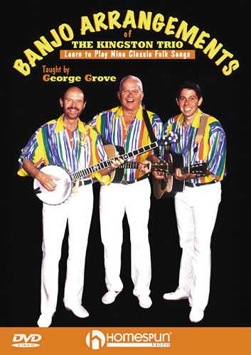 DIGITAL DOWNLOAD ONLY - Banjo Arrangements of the Kingston Trio - Learn to Play Nine Classic Folk Songs