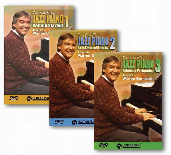 DVD - You Can Play Jazz Piano: Three DVD Set