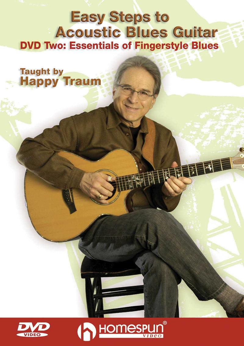 DVD - Easy Steps to Acoustic Blues Guitar: Vol. 2 - Essentials of Fingerstyle Blues