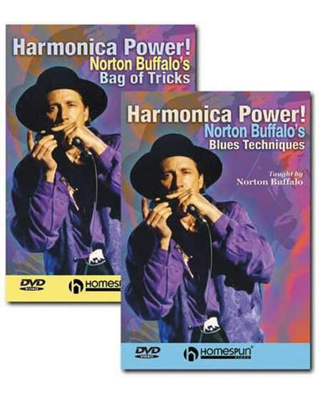 DVD - Harmonica Power!: Two DVD Set - Norton Buffalo's Bag of Tricks & Blues Techniques