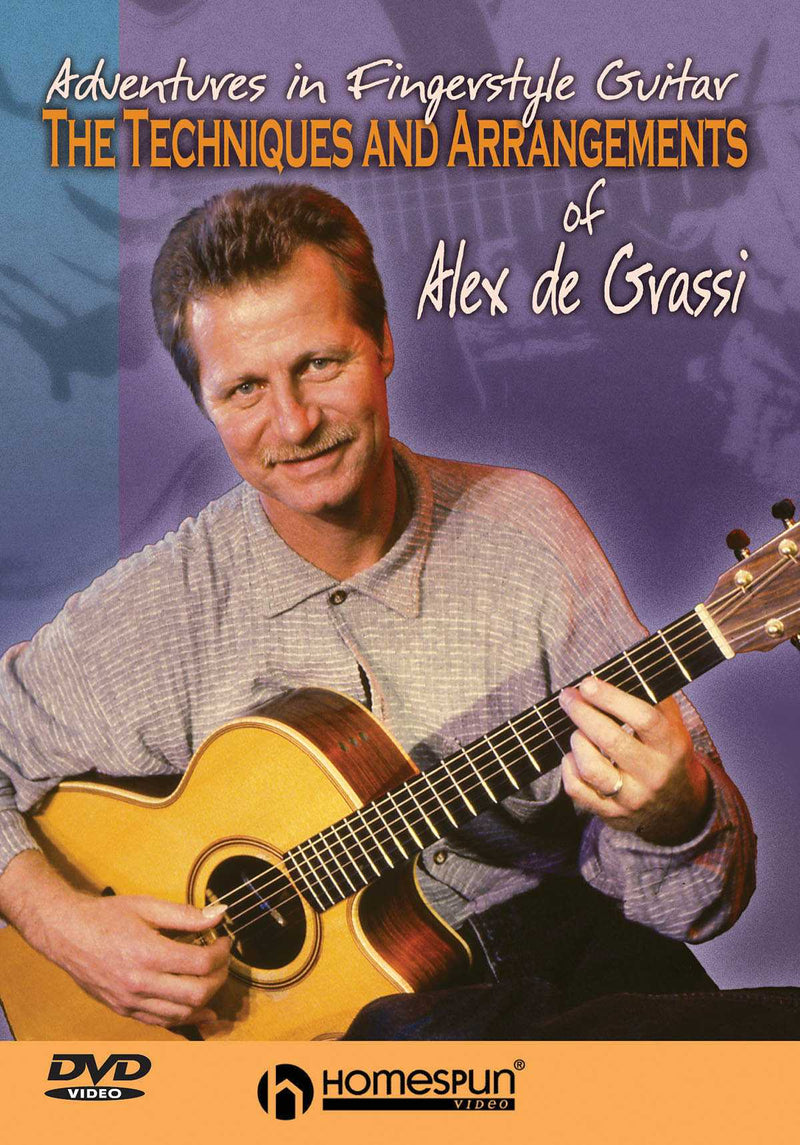 DVD-The Techniques and Arrangements of Alex de Grassi - Adventures in Fingerstyle Guitar