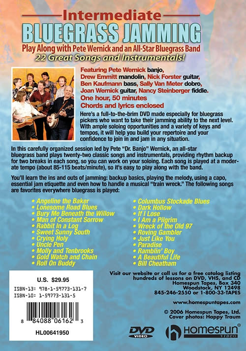 DVD - Intermediate Bluegrass Jamming - Play Along with Pete Wernick and an All-Star Bluegrass Band