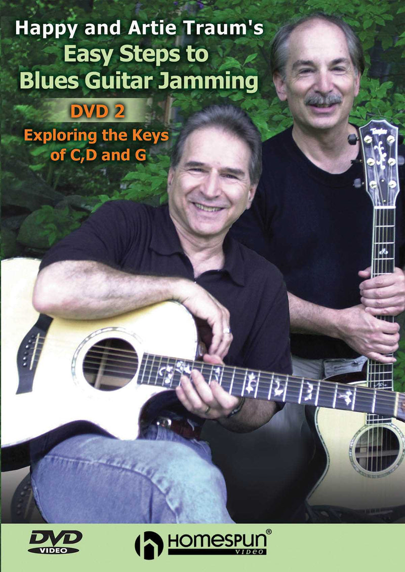 DVD - Happy and Artie Traum's Easy Steps to Blues Guitar Jamming: Vol. 2